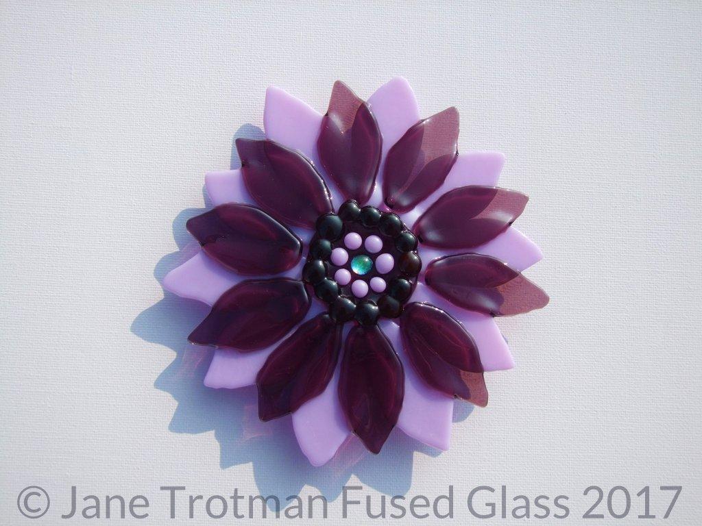 Purple-fused-glass-flower