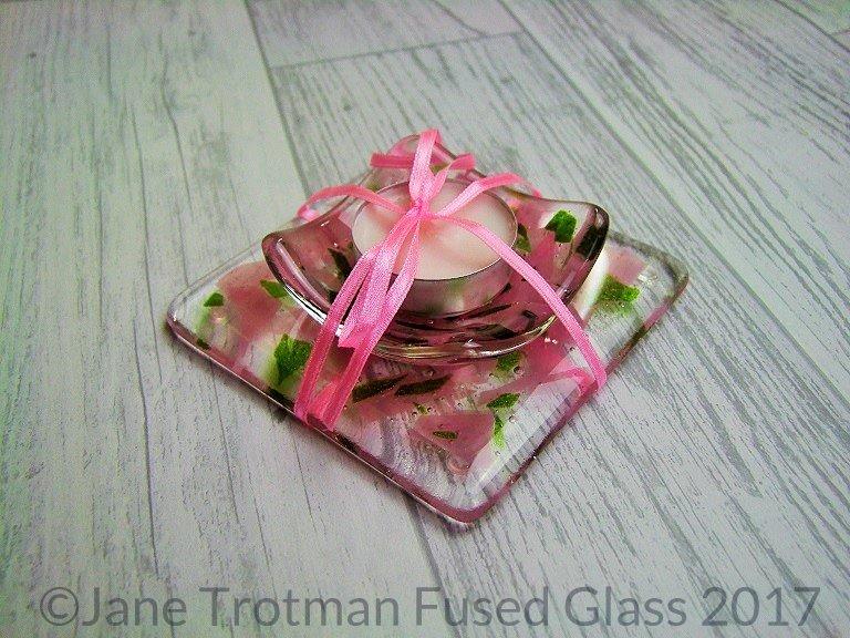Fused-glass-candle-holder-set