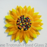 Fused-glass-sunflower