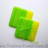 Bright-green-fused-glass-coasters