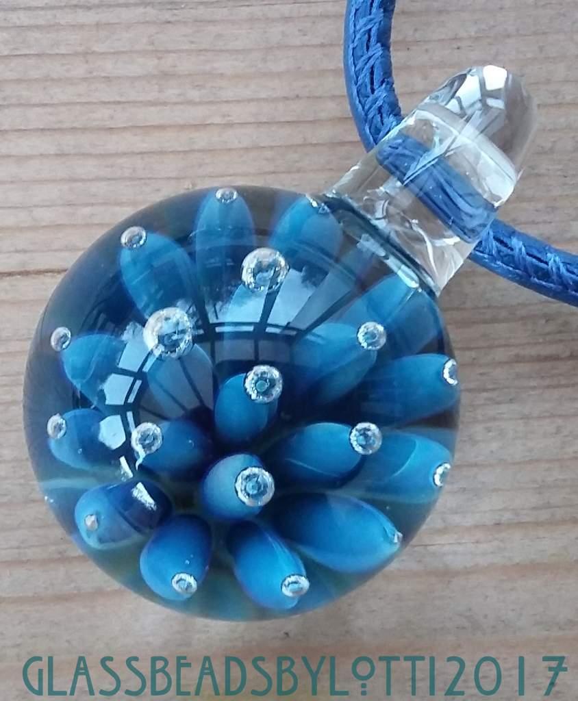 Blue-bubble-marble-necklace