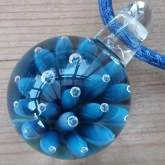 Blue-bubble-marble-necklace