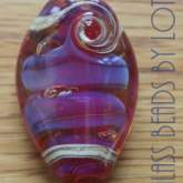 Purple-pink-trilobite-glass-bead