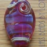 Purple-pink-trilobite-glass-bead