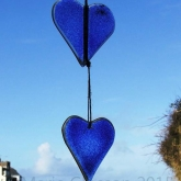 Double-heart-hanging-blue